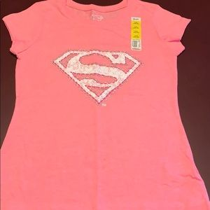 Girls superman large T-shirt new with tag